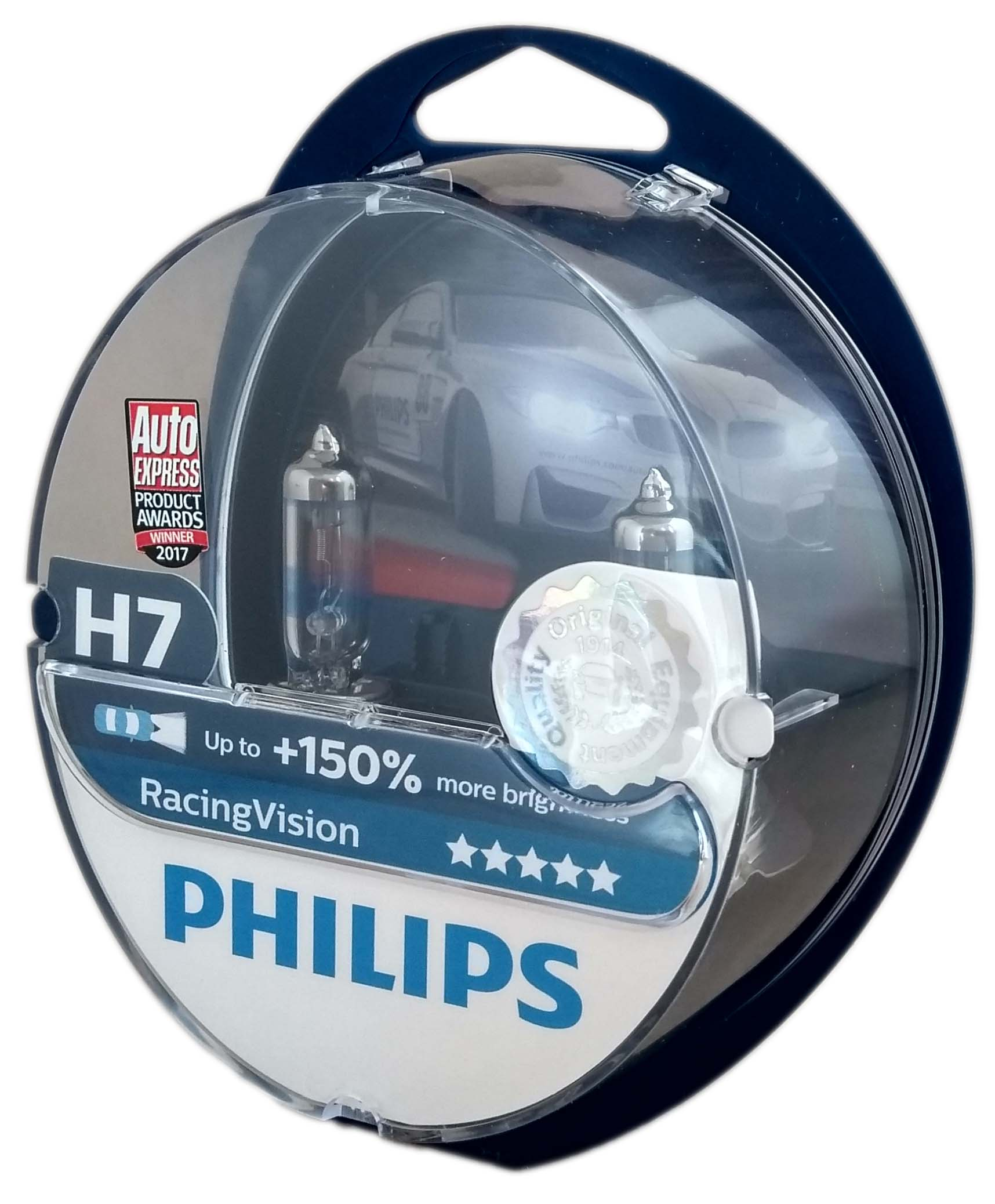 h7 philips racing vision 150 car headlight bulb set with. Black Bedroom Furniture Sets. Home Design Ideas