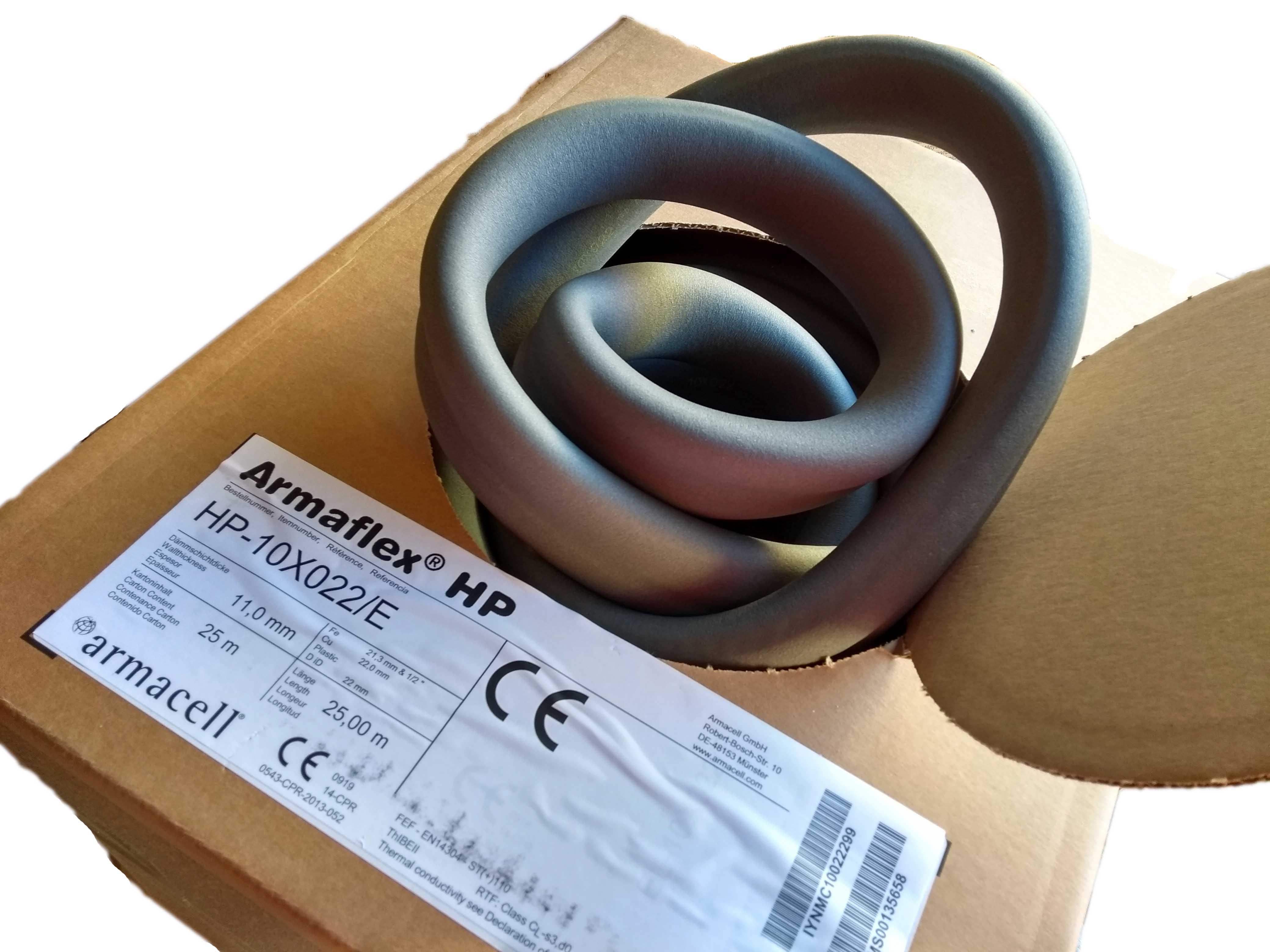Armaflex HP Isolierung Rohrisolierung Isolierschlauch endlos 10 x 22mm,25m